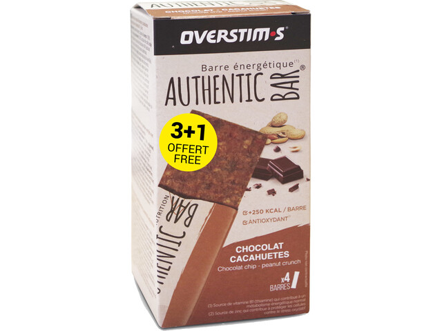 OVERSTIM.s Authentic Patukkalaatikko 3 + 1 x 65 g, chocolate peanuts